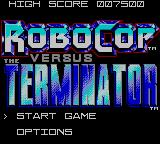 RoboCop Versus the Terminator Game Gear Title Screen