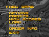 Seek and Destroy DOS Main menu