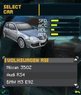 Need for Speed: Undercover J2ME Select a car.