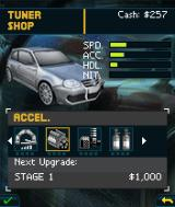 Need for Speed: Undercover J2ME Car tuning menu