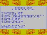 Evening Star ZX Spectrum Main menu