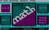 Math Blaster Plus! DOS Start screen