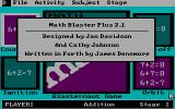 Math Blaster Plus! DOS About