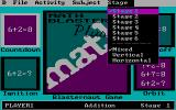 Math Blaster Plus! DOS Menu - Stage