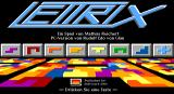 Lettrix DOS Title Screen.