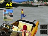 Crazy Taxi iPad Picking up a customer.
