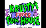 Krusty's Super Fun House DOS Title Screen