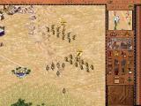 Pharaoh Windows War! Archers engage the enemies while our infantry strikes their flank