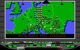Conflict: Europe DOS main game screen