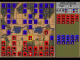 Stratego DOS Main Game Screen
