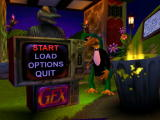 Gex 3D: Enter the Gecko Windows At the main menu
