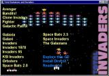 Total Galaxians and Invaders Windows The compilation's menu system autoloads when the Dis inserted in the drive. There are more games on the CD than are referenced by the menu, these can be found by exploring the CD.