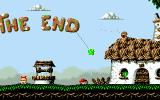 Fury of the Furries DOS And this is the real end - an interactive level. Imagine: birds that don't hurt you... tiny creatures throwing confetti and not bullets...
