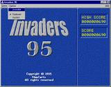 Invaders 95 Windows The player selects the input device from this drop down list.