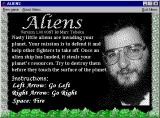 Aliens Windows 3.x Shareware version: This screen is displayed when the game loads.
