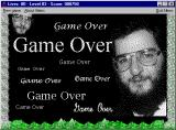 Aliens Windows 3.x Shareware version: Game Over