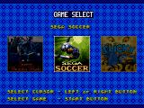 Sega Top Five Genesis Game selection screen