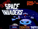 Taito's Super Space Invaders SEGA Master System Title