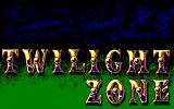 "Title screen. For some reason it says ""Twilight Zone"" only"