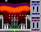 Taito's Super Space Invaders SEGA Master System Shoot the passing spaceship for a power-up