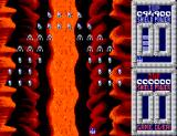 Taito's Super Space Invaders SEGA Master System Fighting the invaders inside a volcano