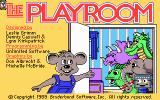 The Playroom DOS Title Screen