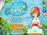 Sally's Spa iPad Main menu