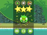 Bad Piggies iPad Level cleared.