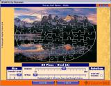 Jigsaw365 Windows Once the number of pieces has been decided the player can move the lower slider to change the style. This shows an Oval style which is a fifty piece puzzle
