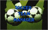 Soccer Team Manager DOS Title Screen.