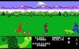 Ninja Golf Atari 7800 Watch out for giant frogs in the rough!