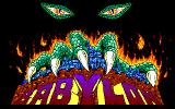Curse of Babylon PC-88 Title screen