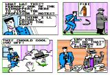 Accolade's Comics featuring Steve Keene Thrillseeker Apple II Steve confronts a suspicious character