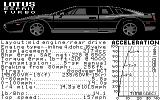 The Supercars: Test Drive II Car Disk Commodore 64 Lotus Esprit Turbo