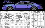 Test Drive II Car Disk: The Supercars Commodore 64 RUF Twin Turbo