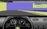 Test Drive II Scenery Disk: California Challenge Commodore 64 Roadsigns keep you informed of where you are.
