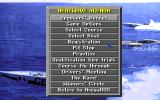 Heat Wave: Offshore Superboat Racing Amiga Main menu.