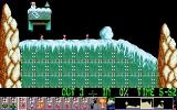 Holiday Lemmings DOS Holiday '93 - Flurry - Level 4 - Start of level