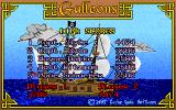Galleons DOS Both players on the hi-score list, along with the devs.