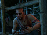 Far Cry 3 Windows You are captured by Vaas, the pirate leader. Note the psychopathic eyes