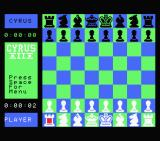 Cyrus II Chess MSX The starting screen