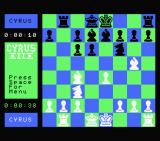 Cyrus II Chess MSX A game in progress