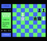 Cyrus II Chess MSX The white king is in check.