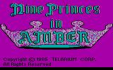 Nine Princes in Amber DOS Title screen