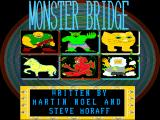 Moraff's Monster Bridge DOS Intro screen