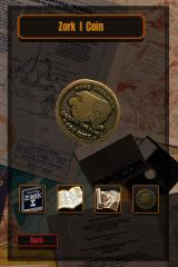 Lost Treasures of Infocom iPhone This zorkmid coin can actually be rotated and appreciated through three dimensions!