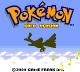Pokémon Gold Version Game Boy Color Title screen