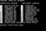 Computer Baseball Apple II Team selection