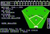 Computer Baseball Apple II Ground ball to second base...