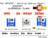 1990: Die 1993'er Edition Amiga Main menu